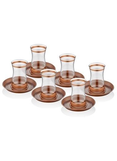 The Mia Unique Çay Bardağı 6 Lı Set Bakır